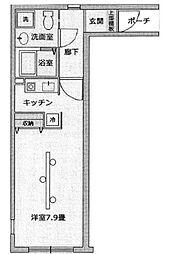 東京都大田区池上7丁目の賃貸マンションの間取り