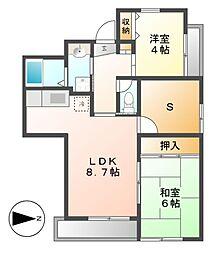 マンション汐見II(E棟)[2階]の間取り
