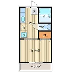 徳島県徳島市佐古八番町の賃貸アパートの間取り