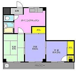 第2丸八ビル[2階]の間取り