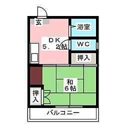 ゾンターク博多II[4階]の間取り