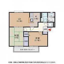 ヴァロンドール角田B棟[2階]の間取り