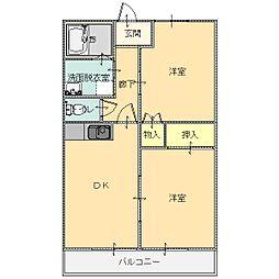 シープクレインマンション[3-D号室]の間取り