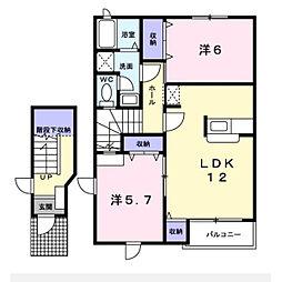 M・シャルマンローズC[2階]の間取り