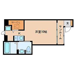 静岡県静岡市葵区四番町の賃貸アパートの間取り