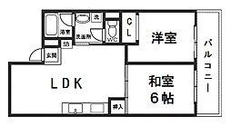 サニーサイド新大阪[4階]の間取り