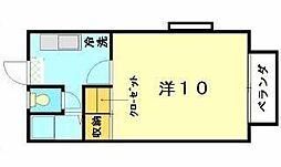 ルーラルハウス[1A号室]の間取り