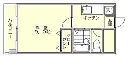 デジュール箱崎[3階]の間取り