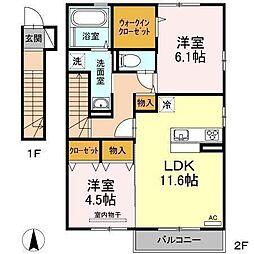 D−room南吉田(仮)[A201 号室号室]の間取り
