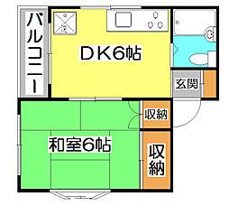 メゾン・ユイ[1階]の間取り