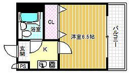 リヴェール福島[4階]の間取り