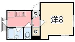 アートウィークリーマンション栗山[631号室]の間取り
