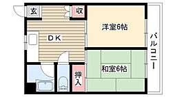 愛知県名古屋市守山区大森1丁目の賃貸マンションの間取り