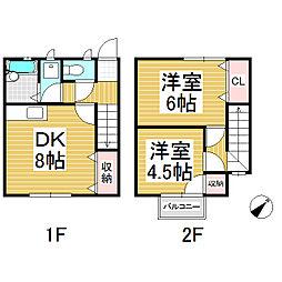 古旗アパート A棟[1階]の間取り
