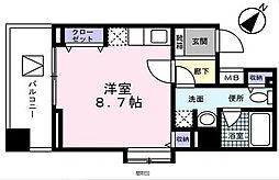 東京都中央区日本橋本町2丁目の賃貸マンションの間取り