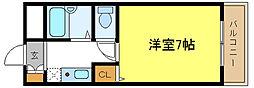 キンキ平野ハイツ[2階]の間取り