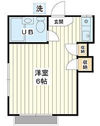 小島ハイツ[1階]の間取り