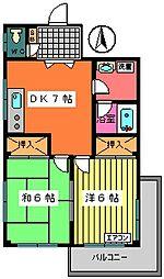 プライムホームズ[206号室]の間取り