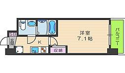 セレニテ福島カルム 9階1Kの間取り