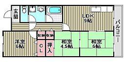 ナカタニMX23[D6号室]の間取り