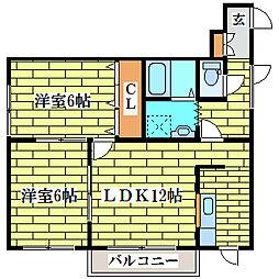 第4フジハイム[1階]の間取り
