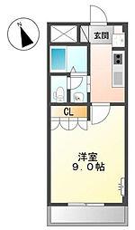 神奈川県横浜市鶴見区尻手2丁目の賃貸マンションの間取り