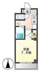 アミュズマン亀城[2階]の間取り