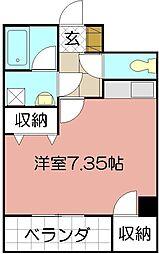 ピアーノ・KM21[401号室]の間取り