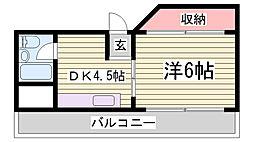 三木ビル[6階]の間取り
