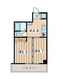 ローズマンションR&A[304号室]の間取り