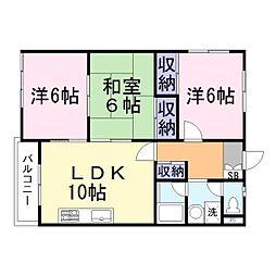 兵庫県加古郡稲美町国岡の賃貸アパートの間取り
