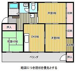 愛知県名古屋市千種区光が丘の賃貸マンションの間取り