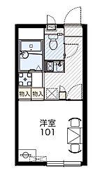 埼玉県所沢市中新井2丁目の賃貸アパートの間取り