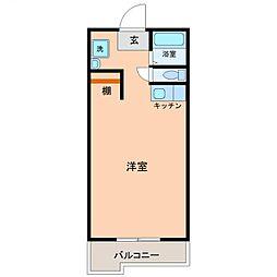 サンケイマンション第9ビル[610号室号室]の間取り