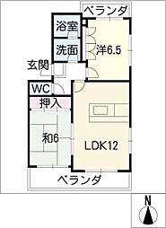 リベル6[2階]の間取り
