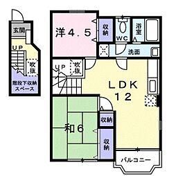 千葉県流山市前ケ崎の賃貸アパートの間取り