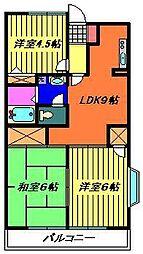 第3大越ビル[502号室]の間取り