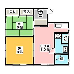 ラ・フェニーチェ288[2階]の間取り