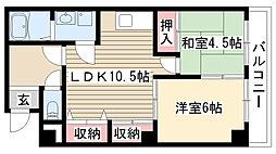 マンション松田[2A号室]の間取り