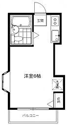 ペンシルハウス[2D号室号室]の間取り