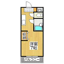 ノアーズアーク桃山[3階]の間取り