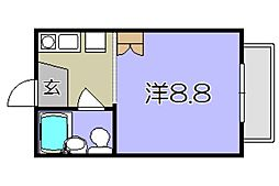 妙法寺ハイツ弐番館[1階]の間取り
