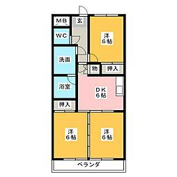 サンヒルズ松和花壇[3階]の間取り