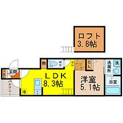 FERIO新栄[1階]の間取り