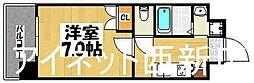 福岡市地下鉄七隈線 渡辺通駅 徒歩3分の賃貸マンション 20階1Kの間取り