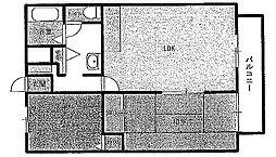 ハートハウス[101号室]の間取り