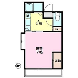 福寿荘[101号室]の間取り
