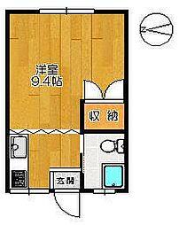 八戸コーポ[202号室]の間取り