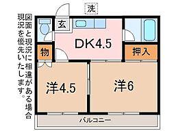 保坂アパート[2階]の間取り