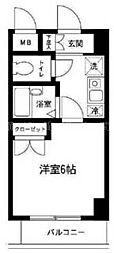 神奈川県横浜市中区万代町3丁目の賃貸マンションの間取り
